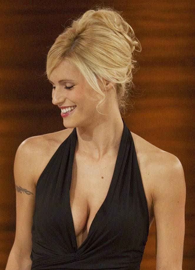 Michelle Hunziker Nude Sexy Topless 9